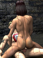 Crazy 3D series with a sexy unsuspecting cutie captured and ravished at night by a dominating master