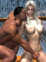 Hot 3D adventure with two huge studs ripping into a naked pussy with their big rods in a fantasy realm