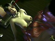 Alien 3D hentai monster porn video