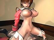Fuckable 3D hentai floosie rubbing cock between her globes and jumping on it
