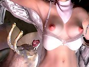 Sexy 3D hentai babe gets fucked by tentacles