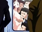 Hentai train chikans rough gangbang